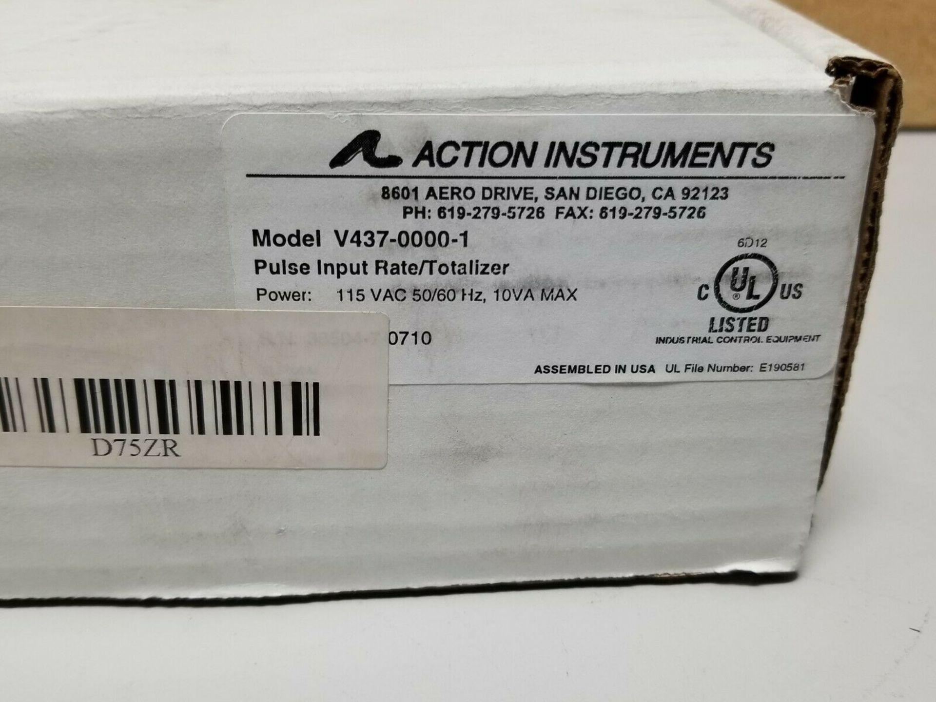 NEW ACTION INSTR VISIPAK RATE/TOTALIZER PANEL METER V437-0000- - Image 2 of 7