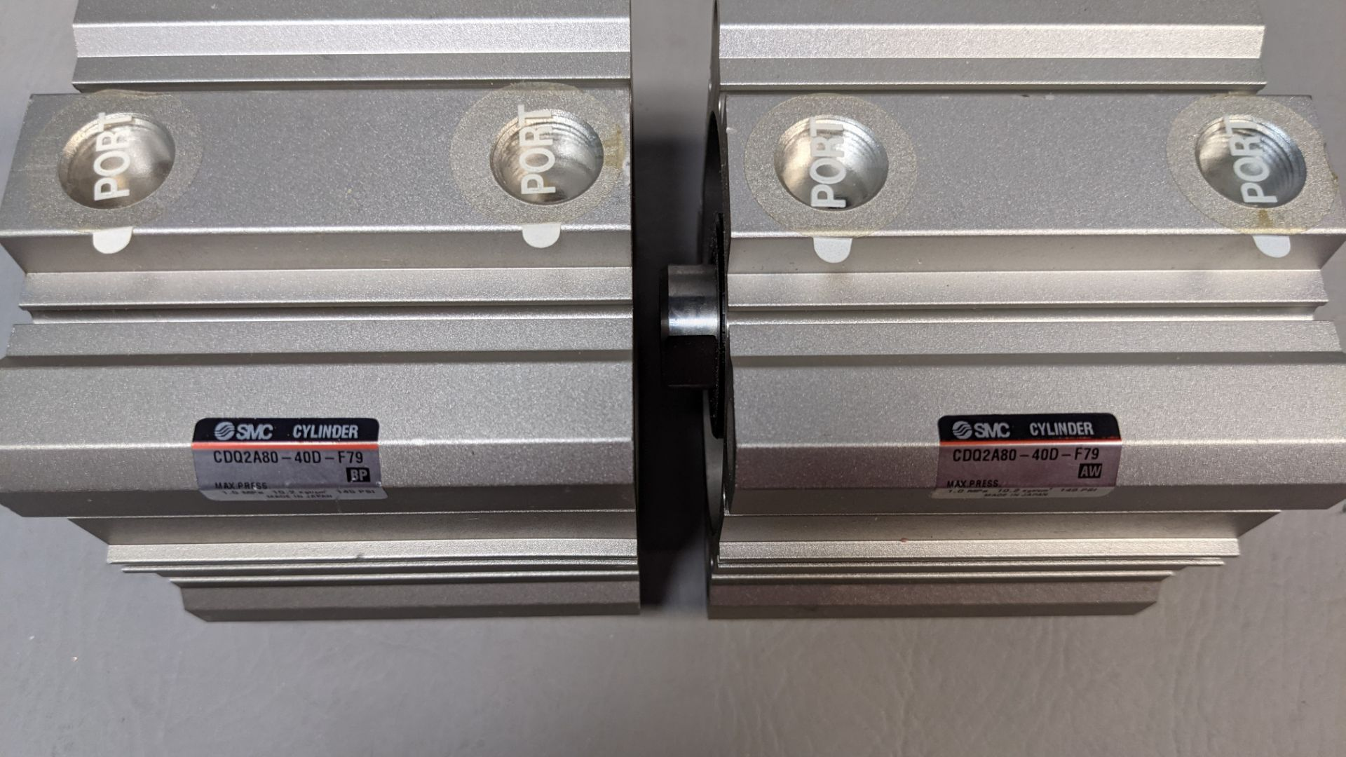 2 NEW SMC PNEUMATIC CYLINDERS - Image 2 of 2