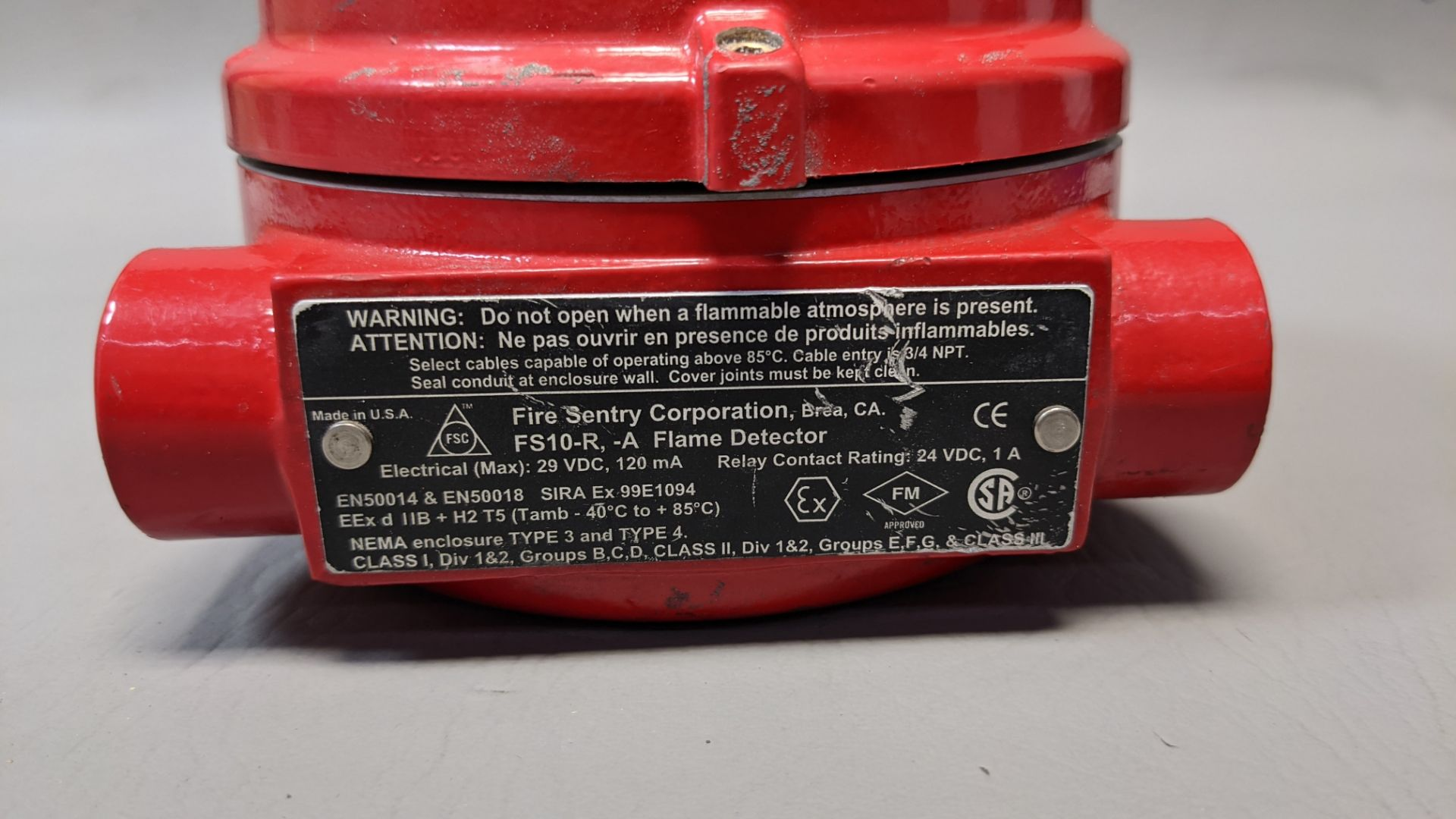 FIRE SENTRY CORP FLAME DETECTOR - Image 2 of 3
