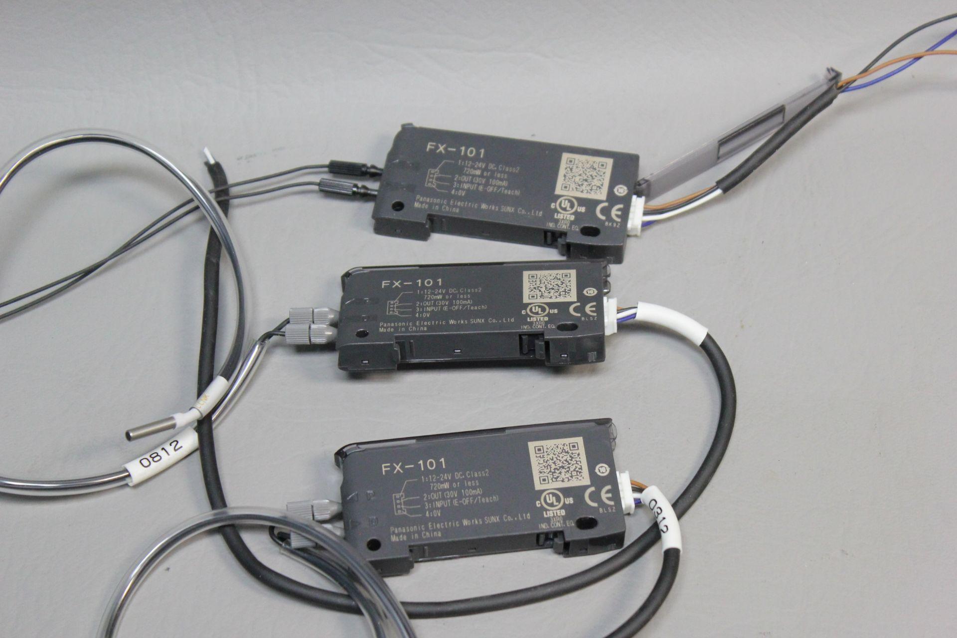LOT OF 3 PANASONIC DIGITAL FIBER OPTIC SENSORS