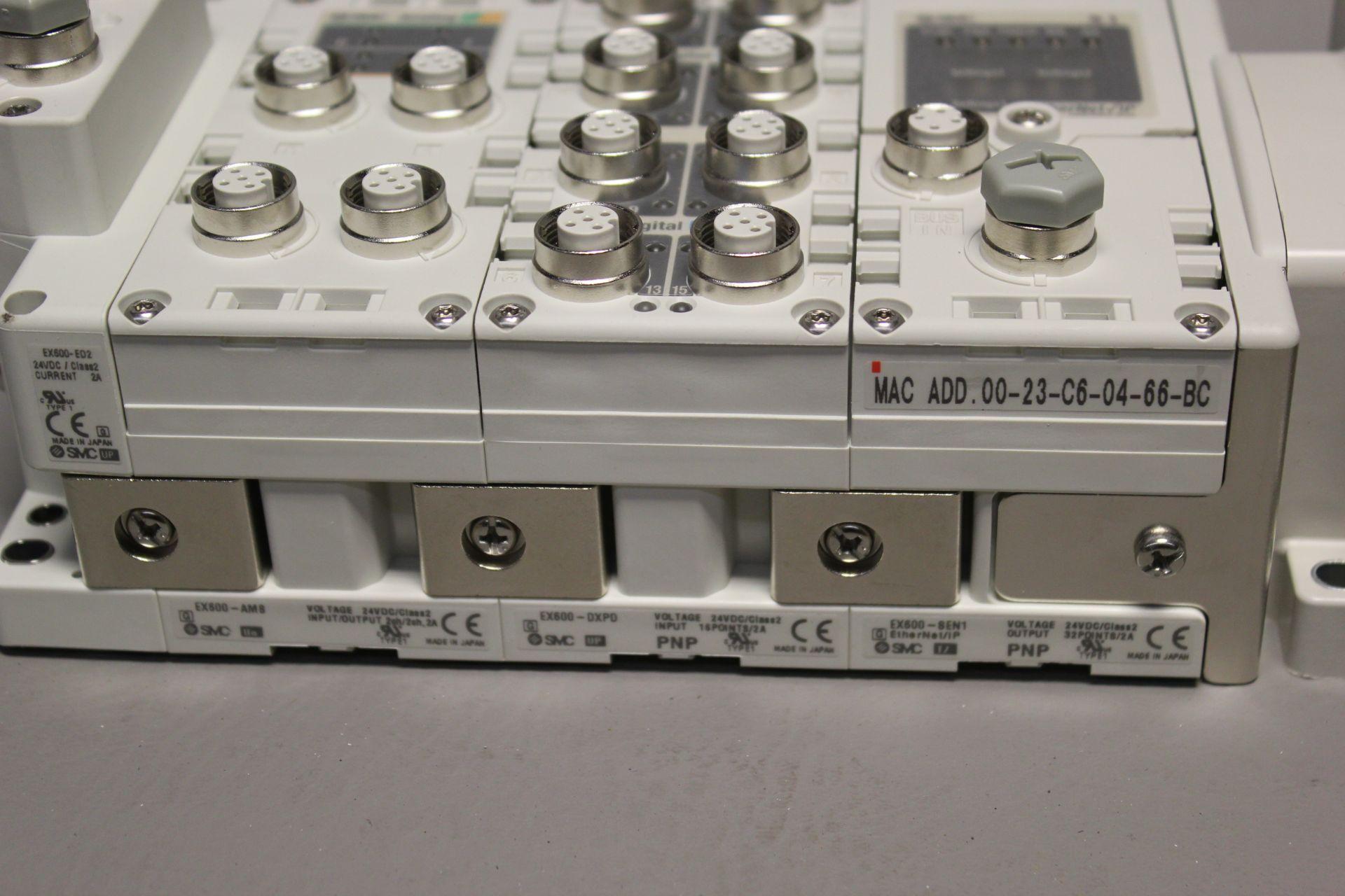 NEW SMC MANIFOLD WITH SOLENOID VALVES, ETHERNET/IP I/O - Image 3 of 8