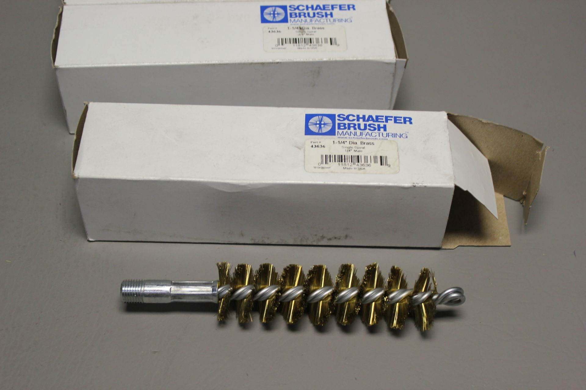 LOT OF NEW SCHAEFER BRASS INDUSTRIAL BRUSHES - Image 2 of 2
