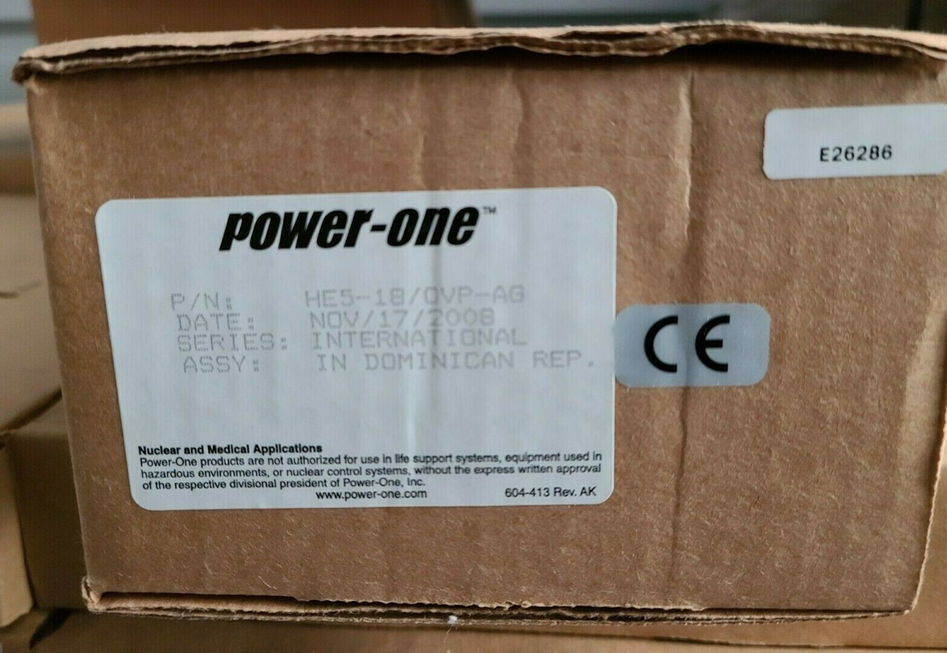 NEW POWER ONE 5VDC 18A AUTOMATION POWER SUPPLY - Image 2 of 5