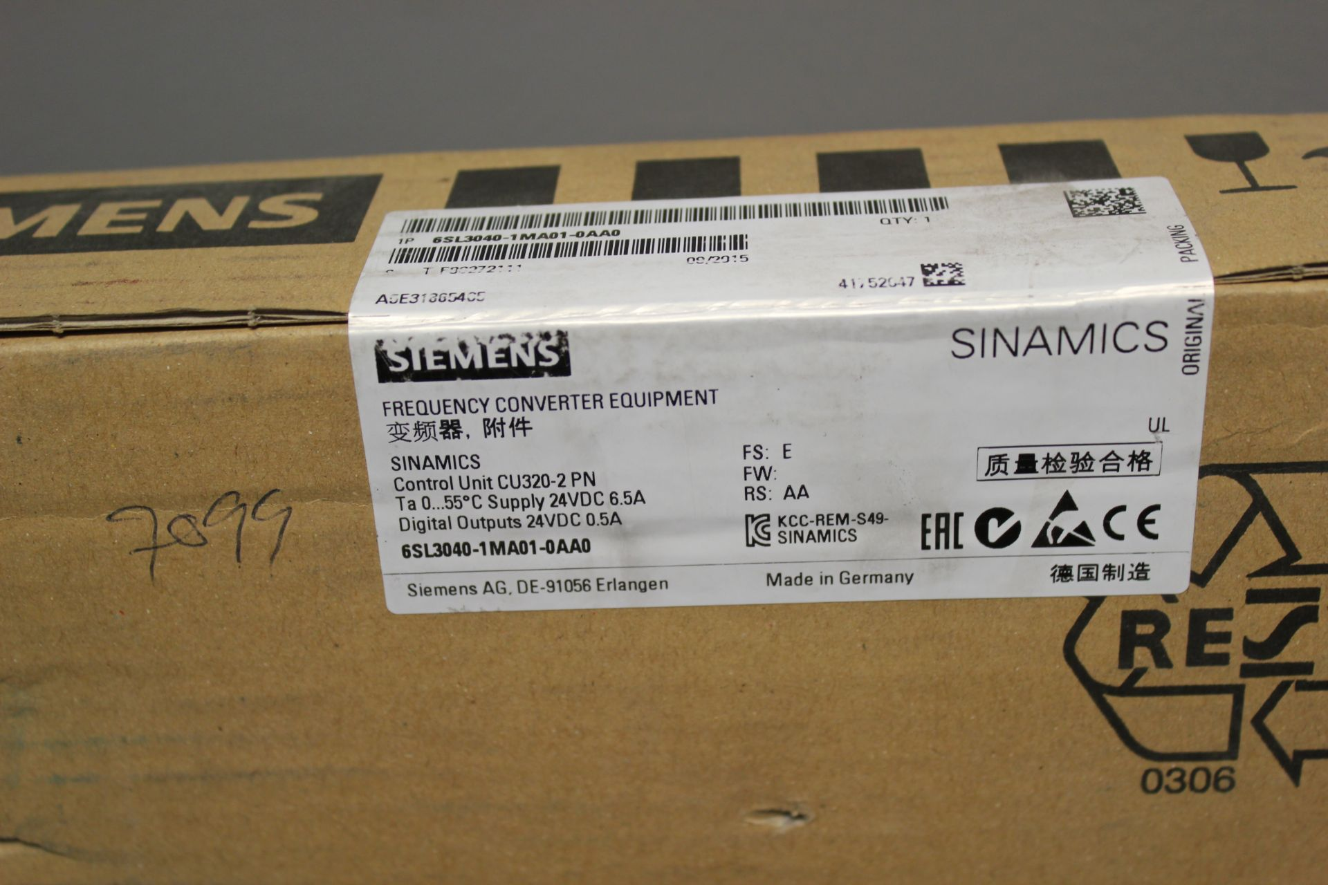 NEW SIEMENS SINAMICS FREQUENCY CONVERTER CONTROL UNIT - Image 3 of 5