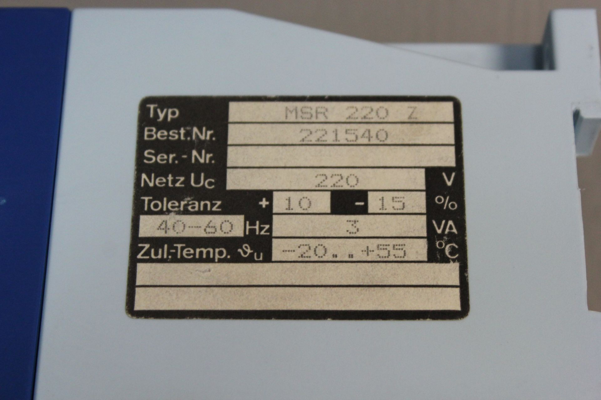 ZIEHL COLD HEAD RELAY DEVICE - Image 3 of 3