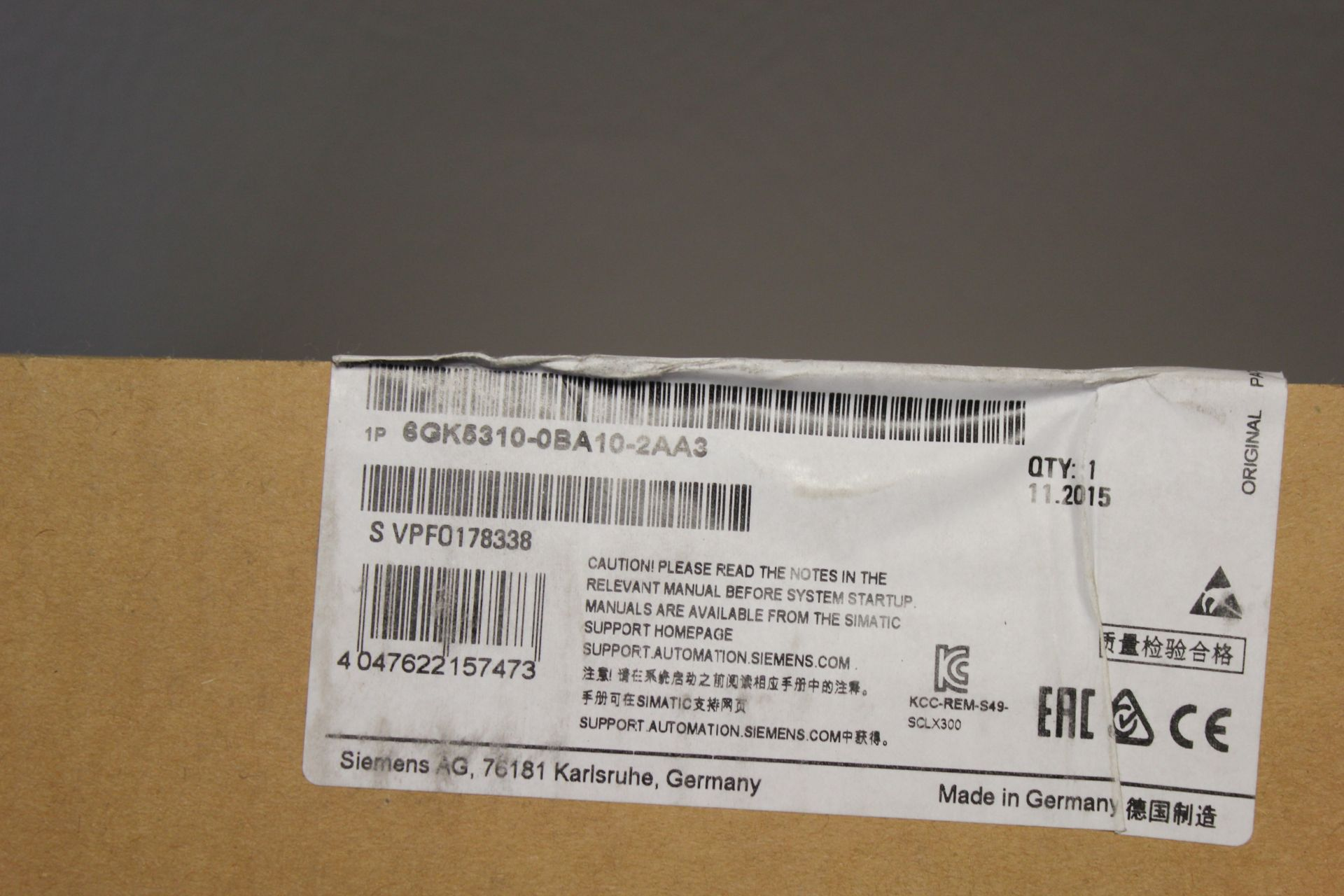 NEW SIEMENS SCALANCE X ELECTRICAL SWITCH MODULE - Image 3 of 3