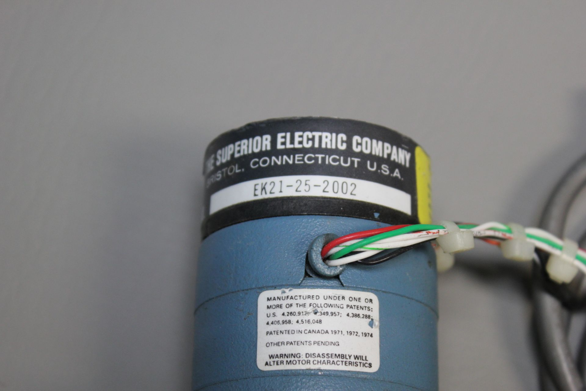 SUPERIOR ELECTRIC STEPPER MOTOR - Image 2 of 3
