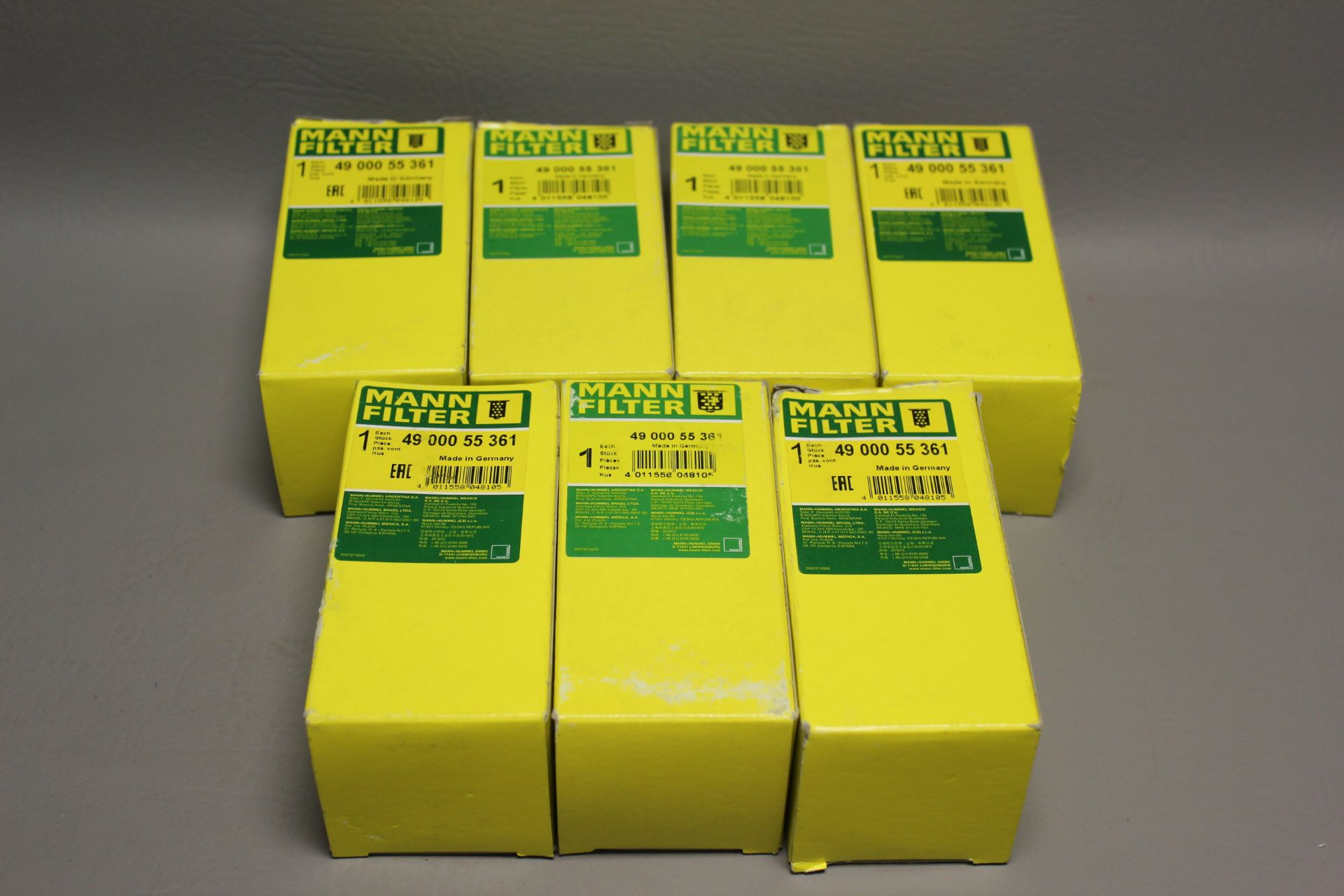 LOT OF NEW MANN INDUSTRIAL FILTERS