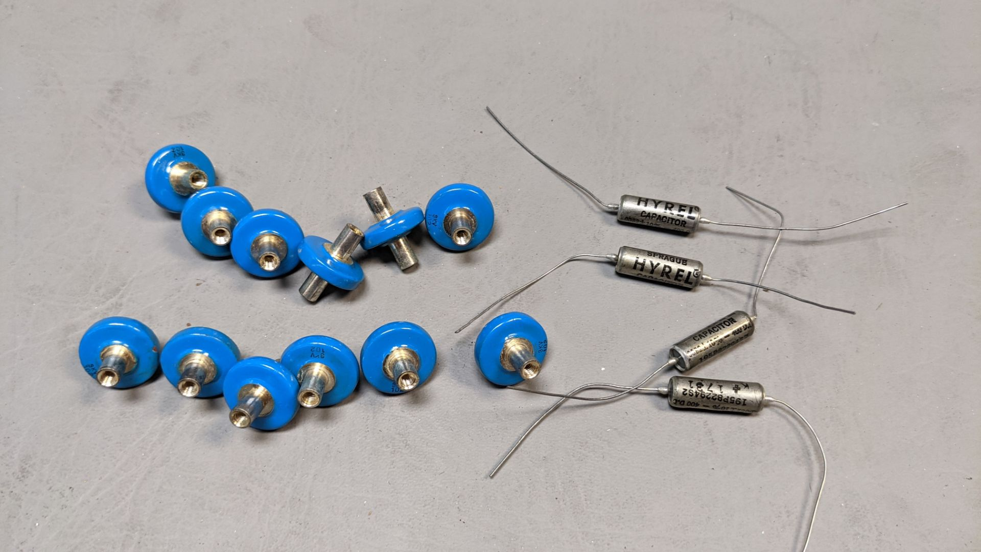 LOT OF HIGH VOLTAGE AND SPRAGUE CAPACITORS