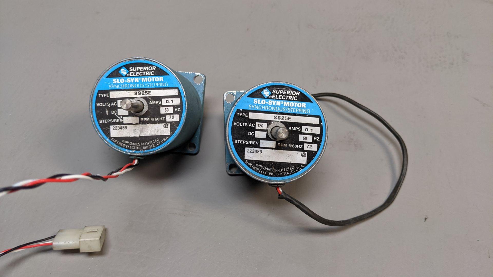 LOT OF 2 SUPERIOR ELECTRIC STEPPER MOTORS