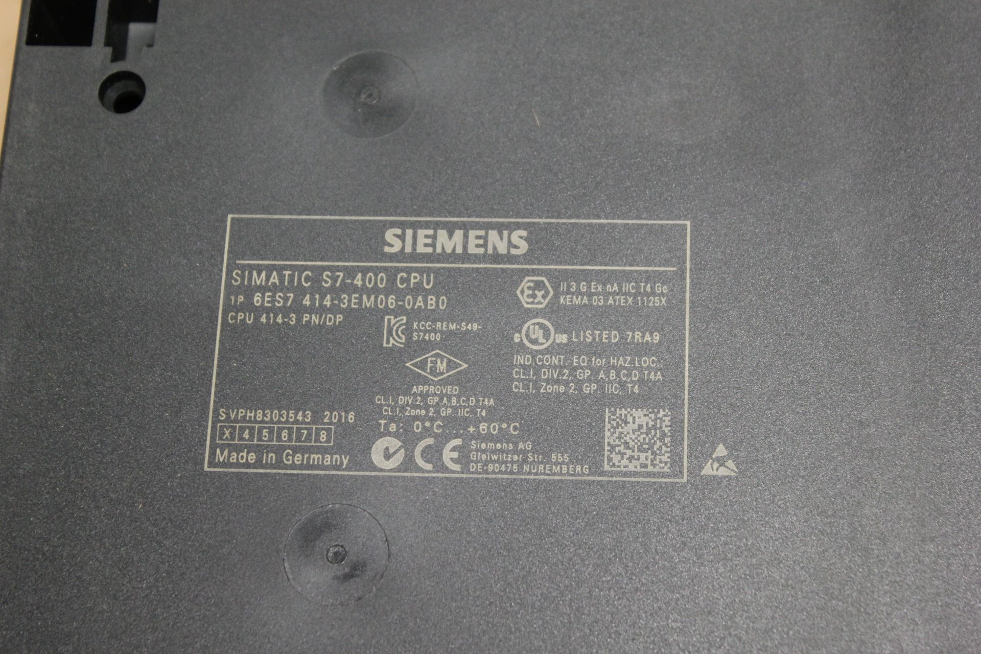 NEW SIEMENS SIMATIC S7-400 PLC CPU PROCESSOR - Image 7 of 8