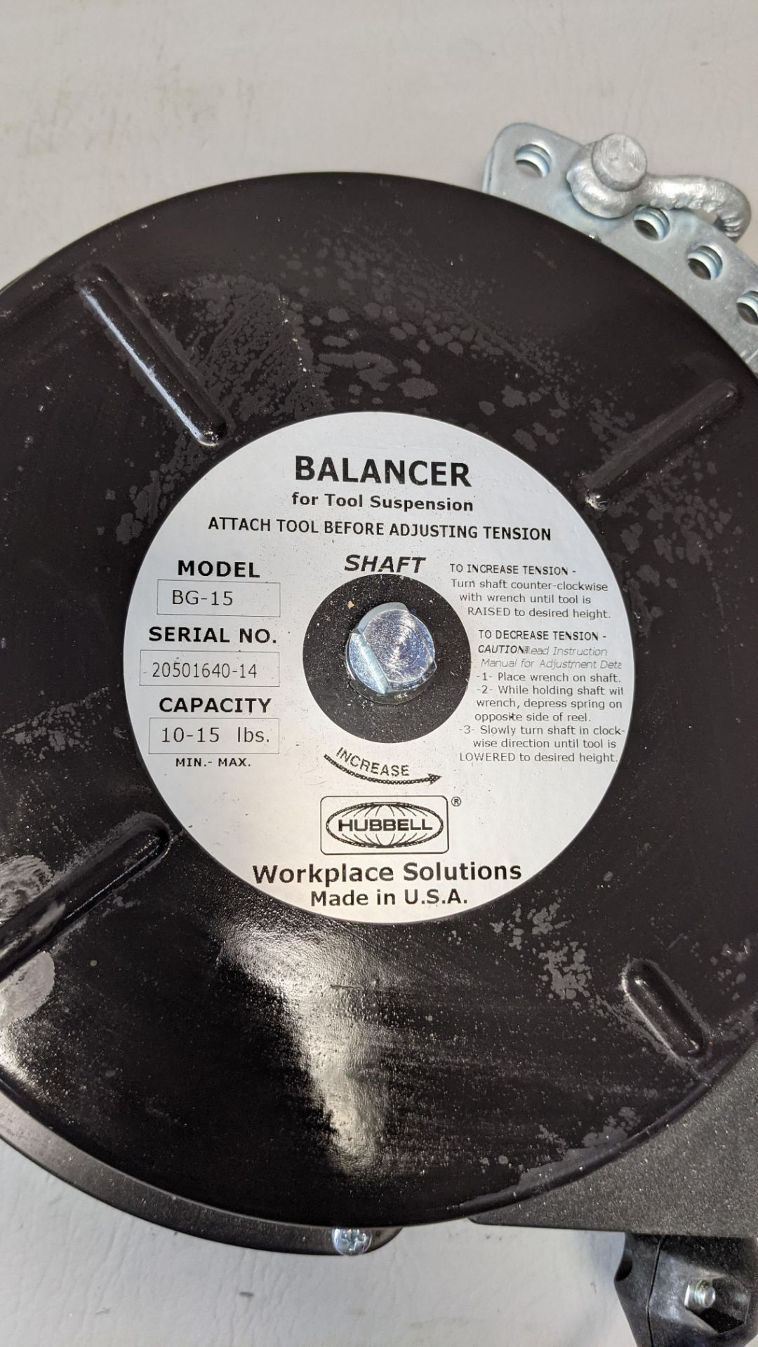 HUBBELL TOOL BALANCER - Image 2 of 3