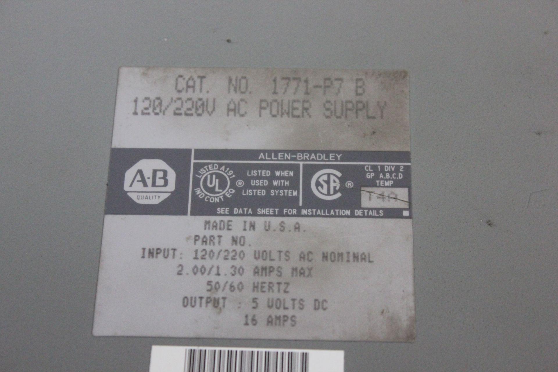 ALLEN BRADLEY PLC POWER SUPPLY - Image 2 of 2