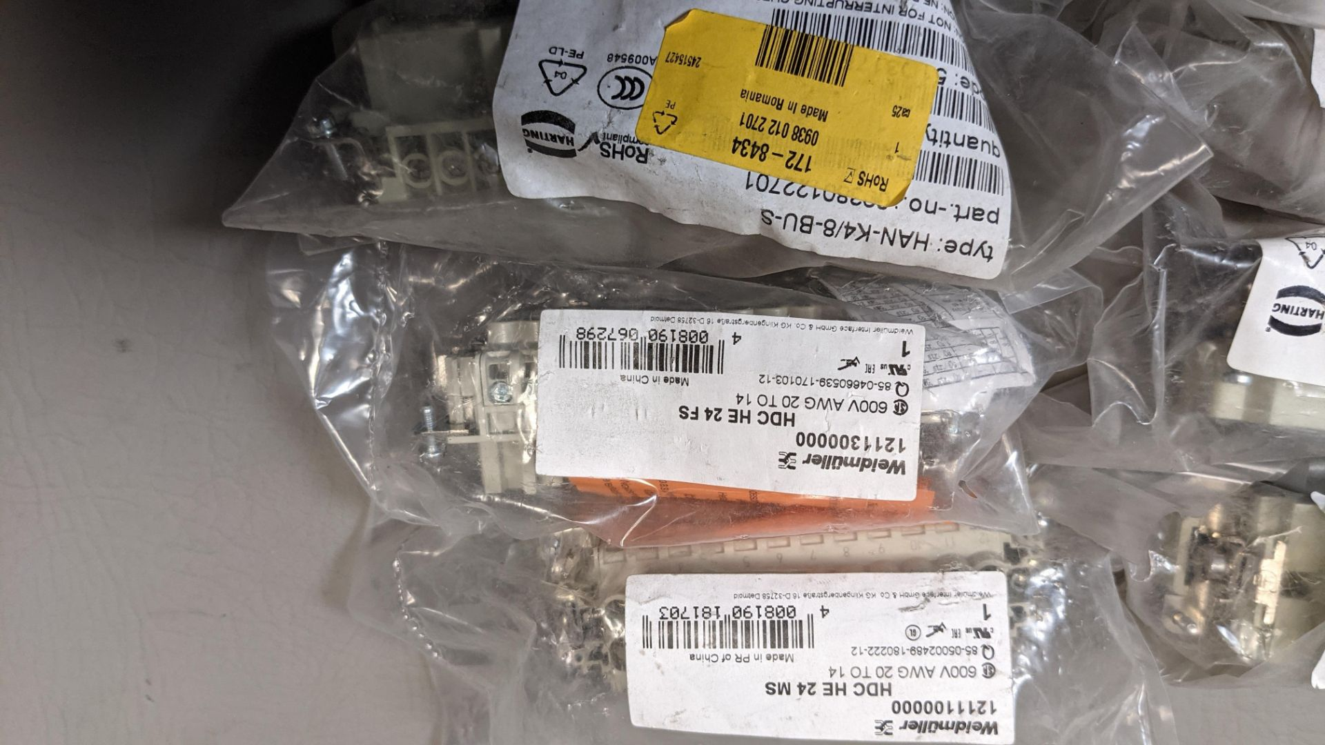 LOT OF NEW HARTING ELECTRICAL CONNECTORS - Image 5 of 6