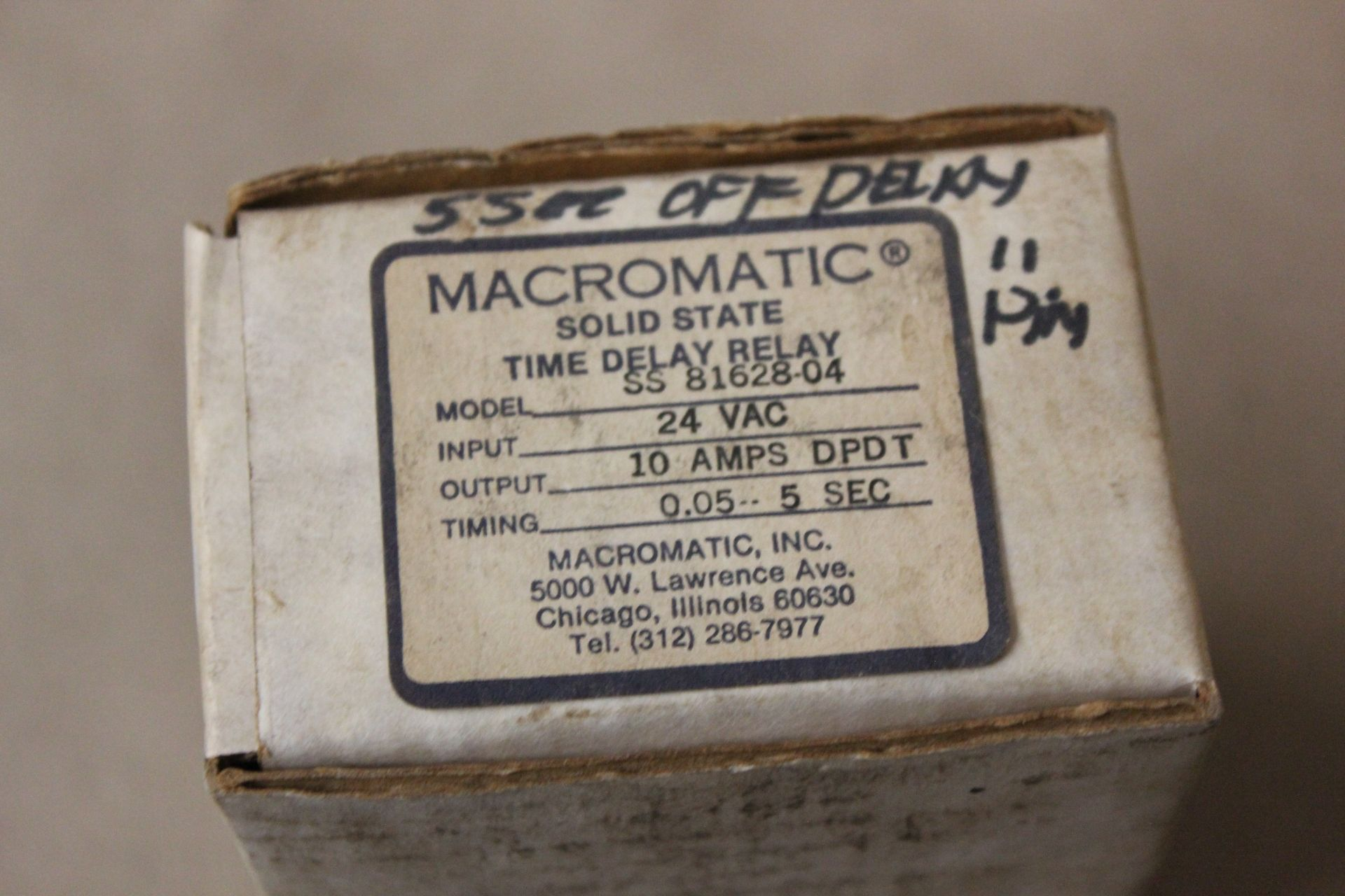 NEW MACROMATIC SOLID STATE TIME DELAY RELAY - Image 2 of 3