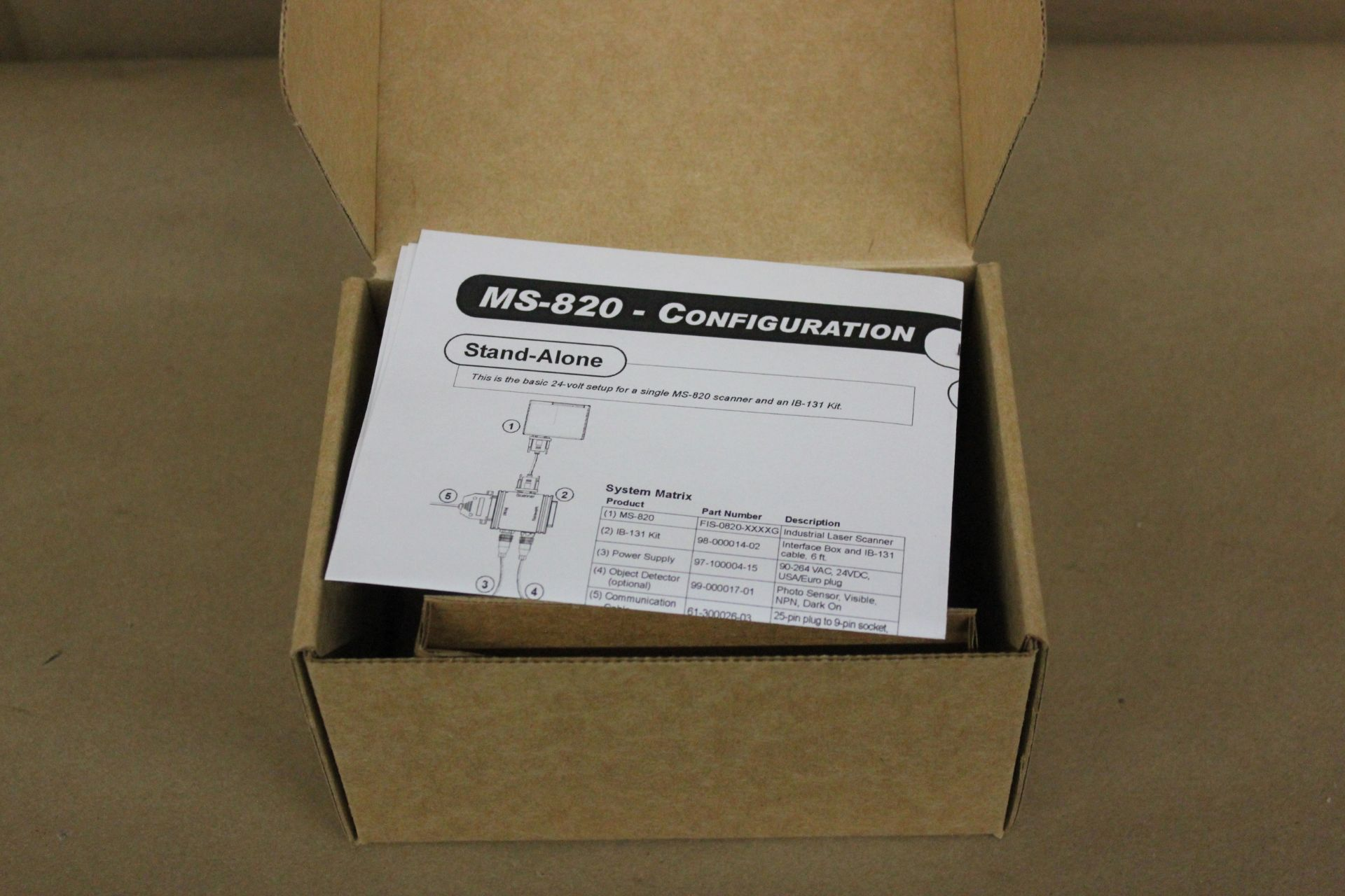 NEW MICROSCAN 820 INDUSTRIAL BARCODE SCANNER - Image 4 of 7