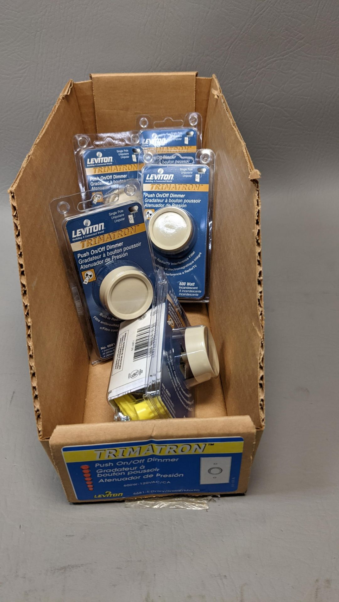 LOT OF NEW LEVITON PUSH ON/OFF LIGHT DIMMERS