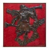 A copper figure of the archangel Gabriel, 18th century