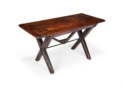 A cherry and pine tavern table, English, 19th century