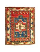 A Fakhralo Kazab prayer rug, circa 1880