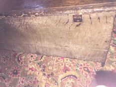 A Henry VIII carved oak boarded chest