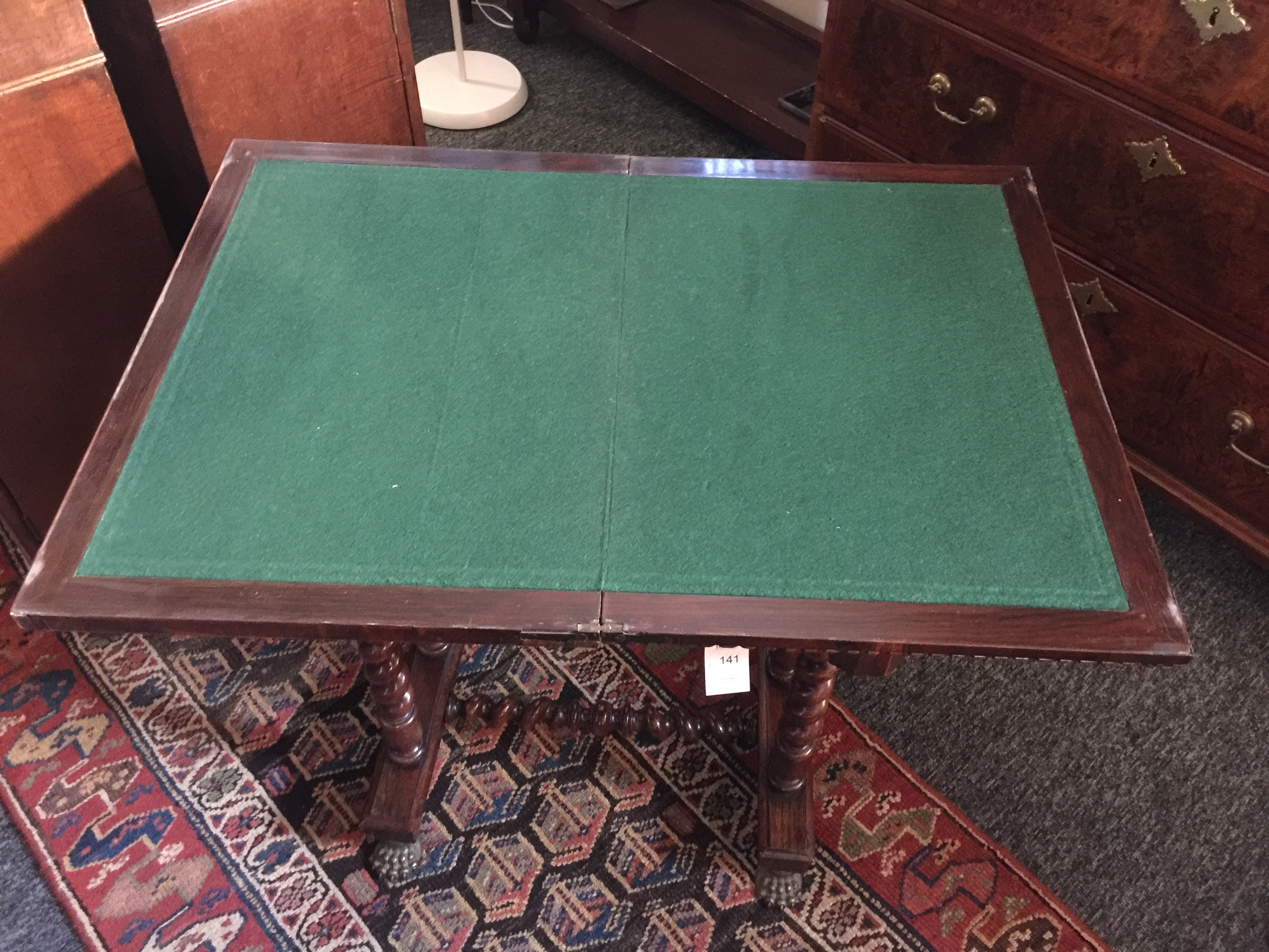 A Regency rosewood games table - Image 13 of 13