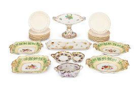 Four Copeland & Garrett dessert dishes and other ceramic tableware