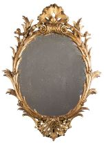 A late 19th century George III rococo style mirror