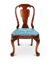A George II carved walnut side chair in the manner of Giles Grendey