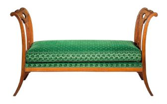 A late 18th century French Directoire carved mahogany day bed by Georges Jacob