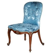 A George III carved mahogany side chair attributed to Thomas Chippendale