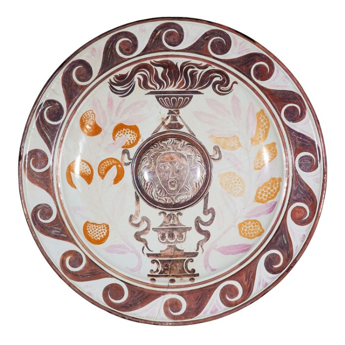 A monumental Victorian Arts & Crafts lustre wall charger by Maw & Co, Broseley - Image 24 of 24