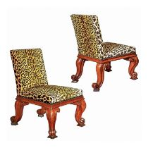 A pair of George IV mahogany boldly carved side chairs by Gillows