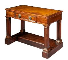A neo-classical style mahogany writing table