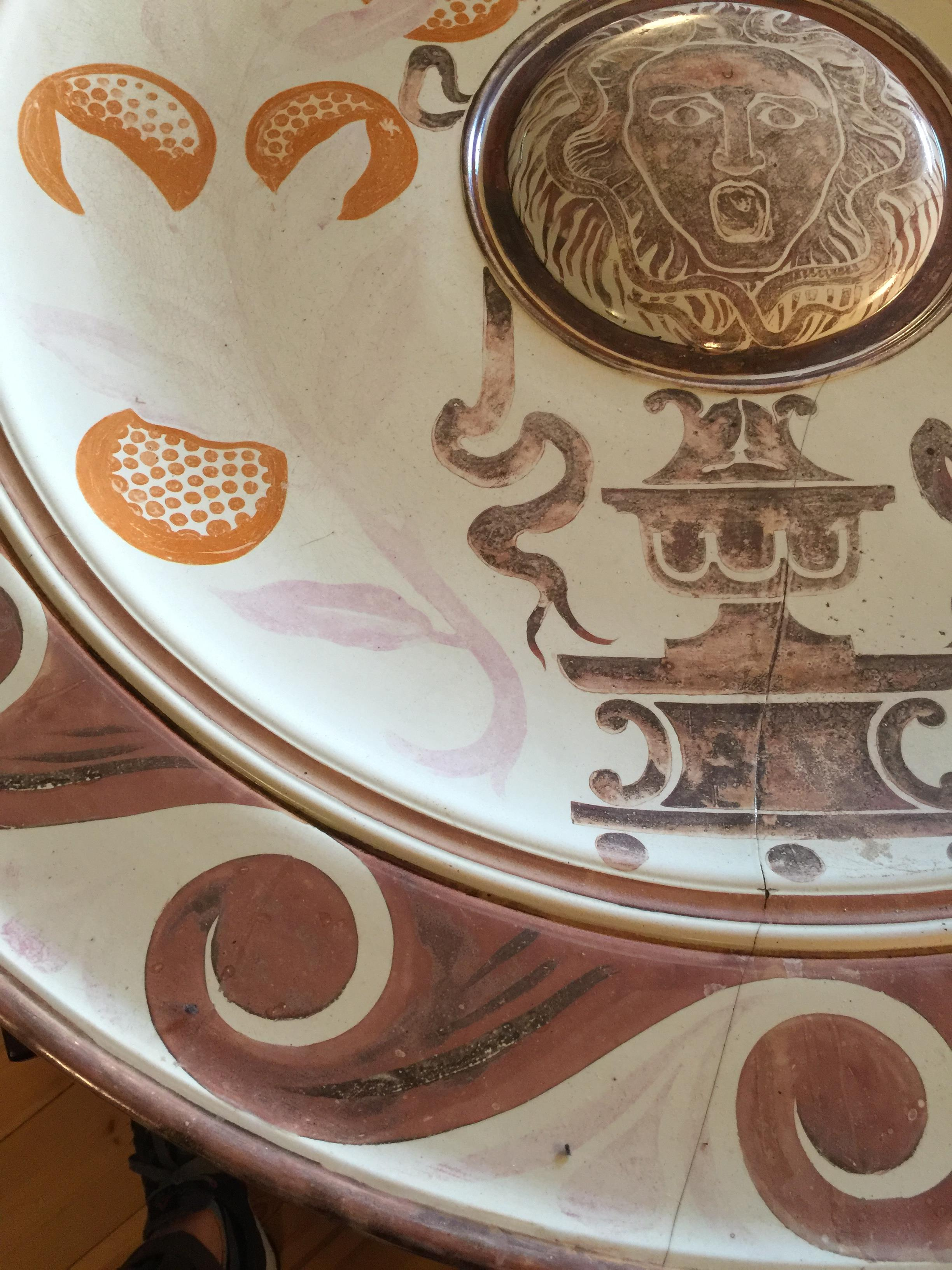 A monumental Victorian Arts & Crafts lustre wall charger by Maw & Co, Broseley - Image 11 of 24