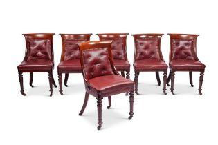 A set of six William IV mahogany side chairs
