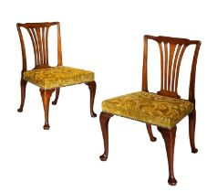 A pair of George II mahogany side chairs