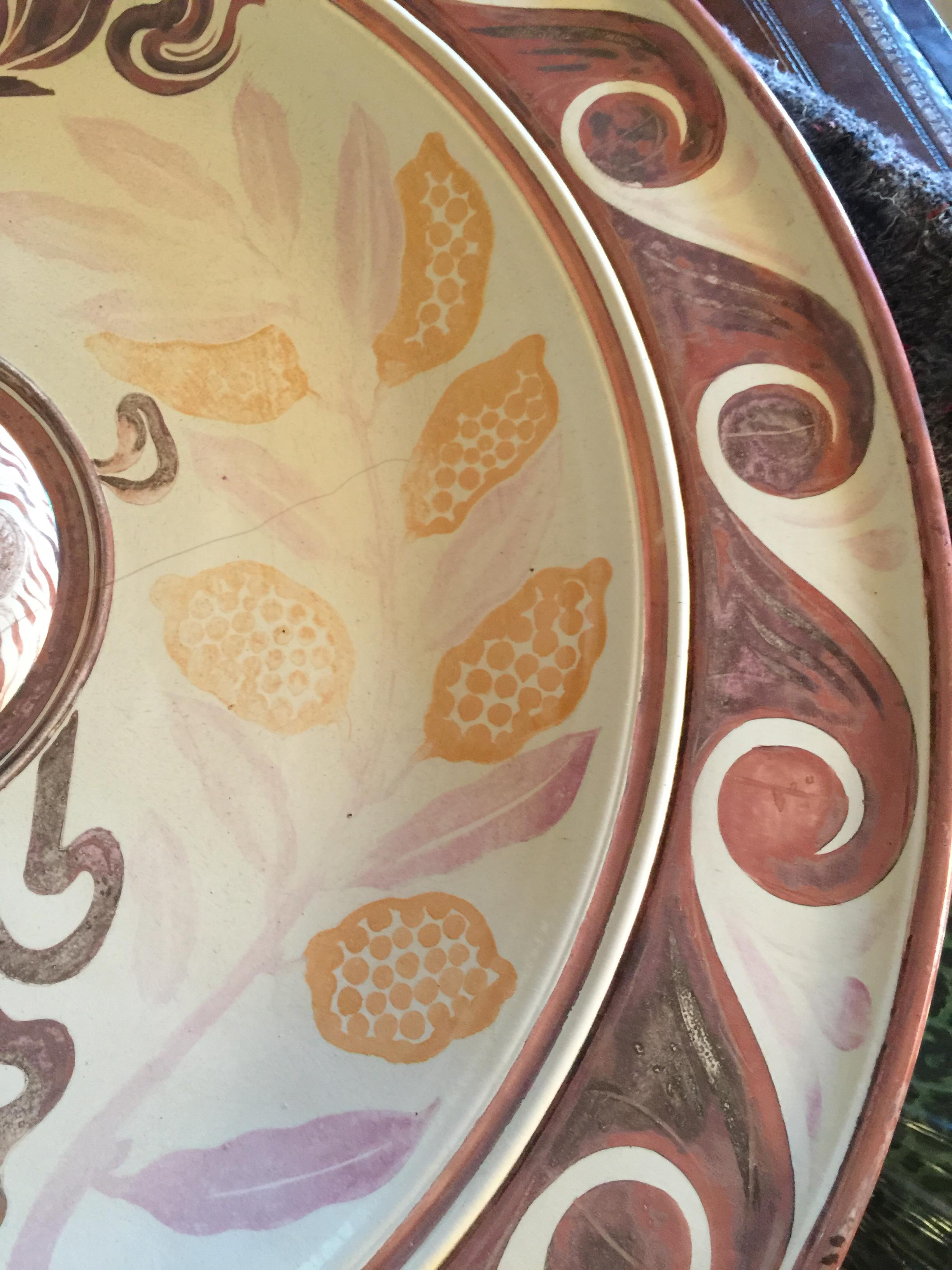 A monumental Victorian Arts & Crafts lustre wall charger by Maw & Co, Broseley - Image 5 of 24