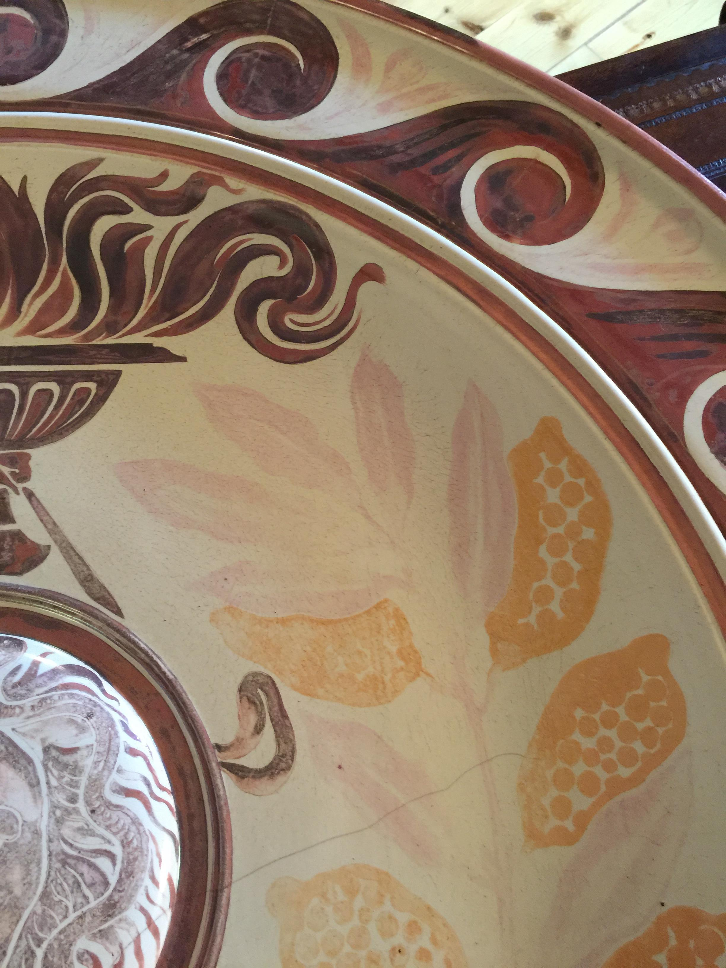 A monumental Victorian Arts & Crafts lustre wall charger by Maw & Co, Broseley - Image 6 of 24