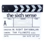 Lot # 1014: THE SIXTH SENSE - Production-Made Clapperboard