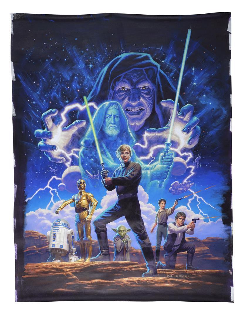 "Lot # 336: STAR WARS - EP IV - A NEW HOPE (1977) - Hand-Illustrated Greg Hildebrandt ""Star Wars: The"