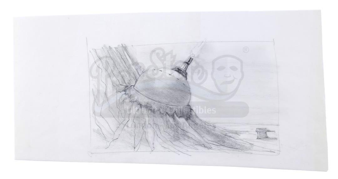 Lot # 1174: STAR WARS - EP V - THE EMPIRE STRIKES BACK - Hand-Drawn Paul Huston Ion Cannon Concept S