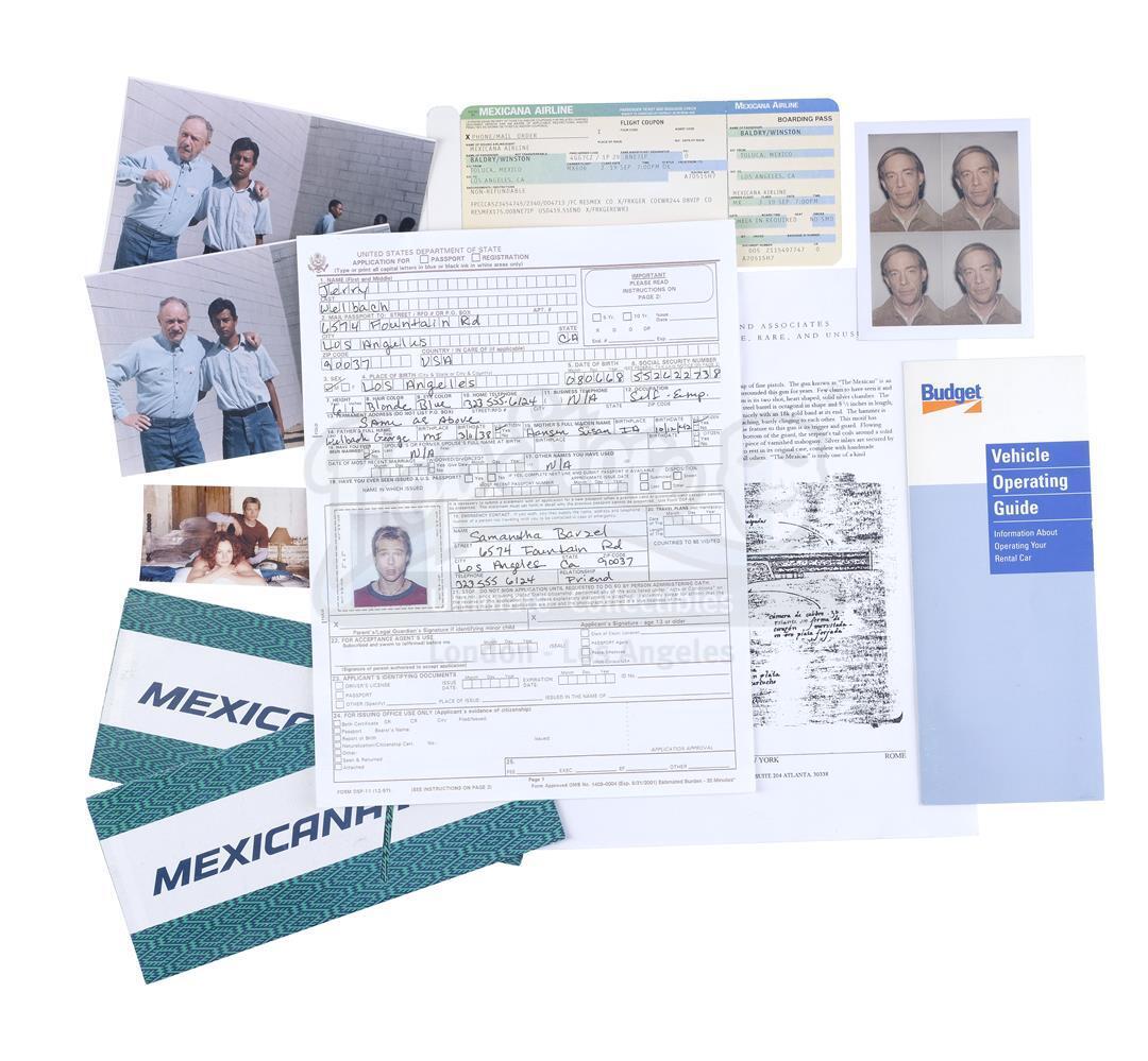 Lot # 880: THE MEXICAN - Jerry Welbach's (Brad Pitt) Passport Application, Winston Baldry's (James G