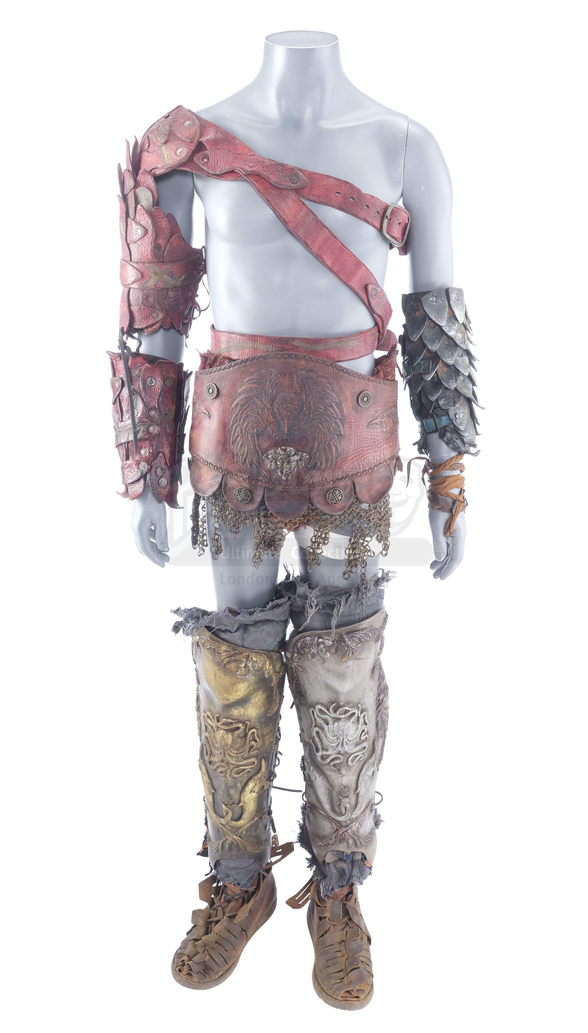 Lot # 1037: SPARTACUS - Crixus' (Manu Bennett) Battle Armor