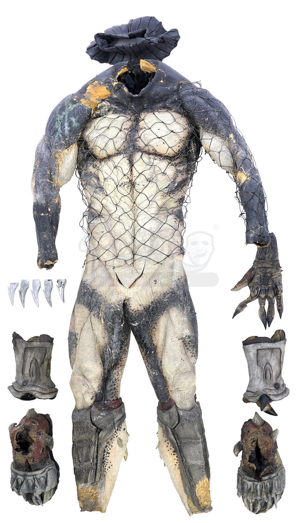 Lot # 19: AVPR: Aliens vs Predator - Requiem - Wolf (Ian Whyte) Predator Costume Components