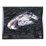 Lot # 334: STAR WARS - EP IV - A NEW HOPE - Industrial Light & Magic (ILM) Crew-Autographed Millenni