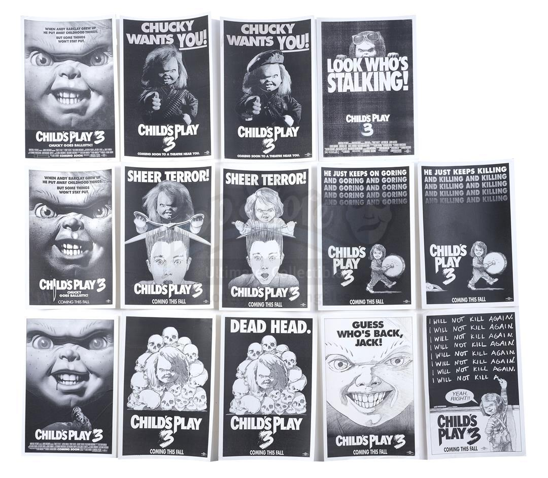 Lot # 567: CHILD'S PLAY 3 - Set of Concept Posters
