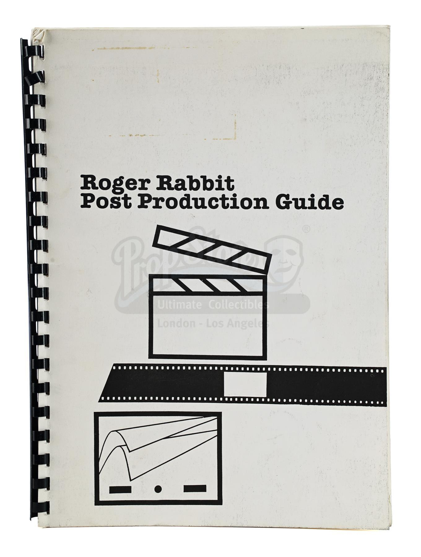 Lot # 1348: WHO FRAMED ROGER RABBIT - Industrial Light & Magic (ILM) Post-Production Guide