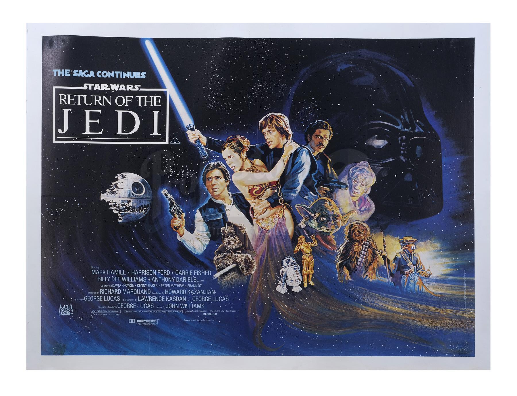 "Lot # 1211: STAR WARS - EP VI - RETURN OF THE JEDI - Feref Associates ""Ewok Style"" Quad"