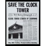 Lot # 487: BACK TO THE FUTURE - Save The Clock Tower Flyer